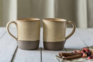 Sculpted Ceramic Mugs